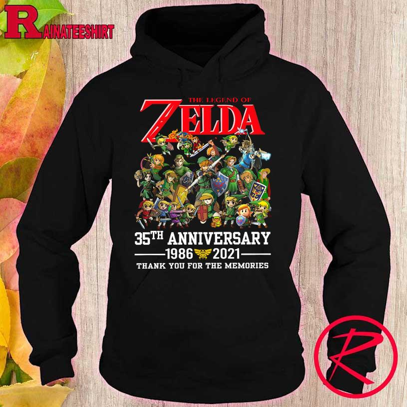 Official The legend Of Zelda 35th anniversary 1986 2021 thank You For the memories hoodie