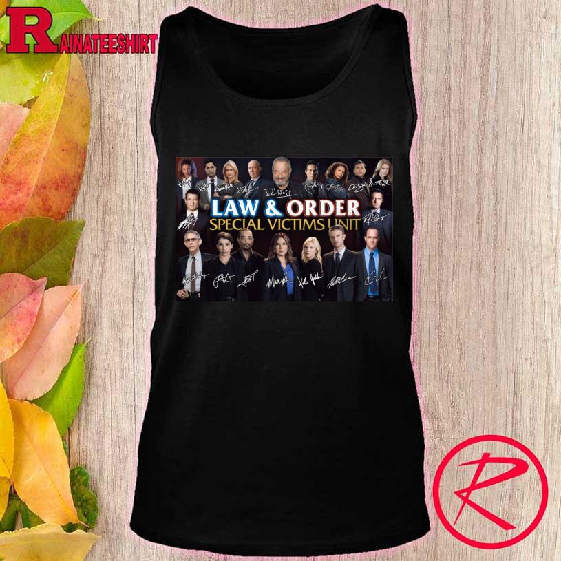 Law And Order Special Victims Unit Signatures tank top
