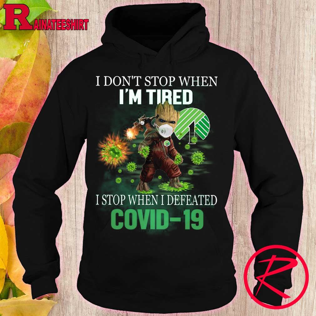 Dollar tree Groot and Rocket i don't stop when i'm tired i stop when i defeated covid-19 s hoodie