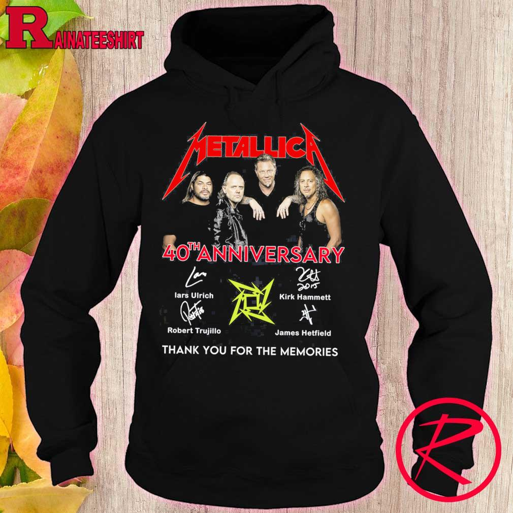 Metallica 40th anniversary thank you for the memories signatures s hoodie