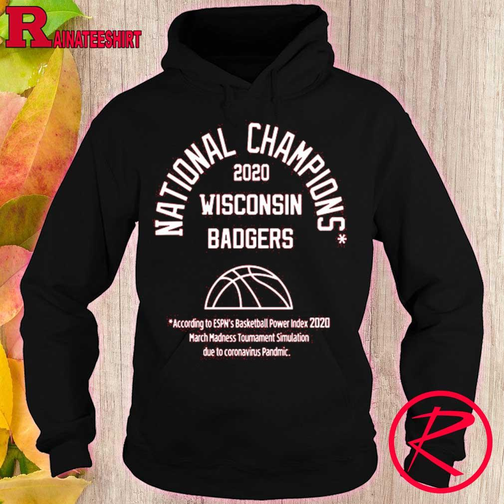 Official 2020 National Champions Wisconsin Badgers Shirt hoodie