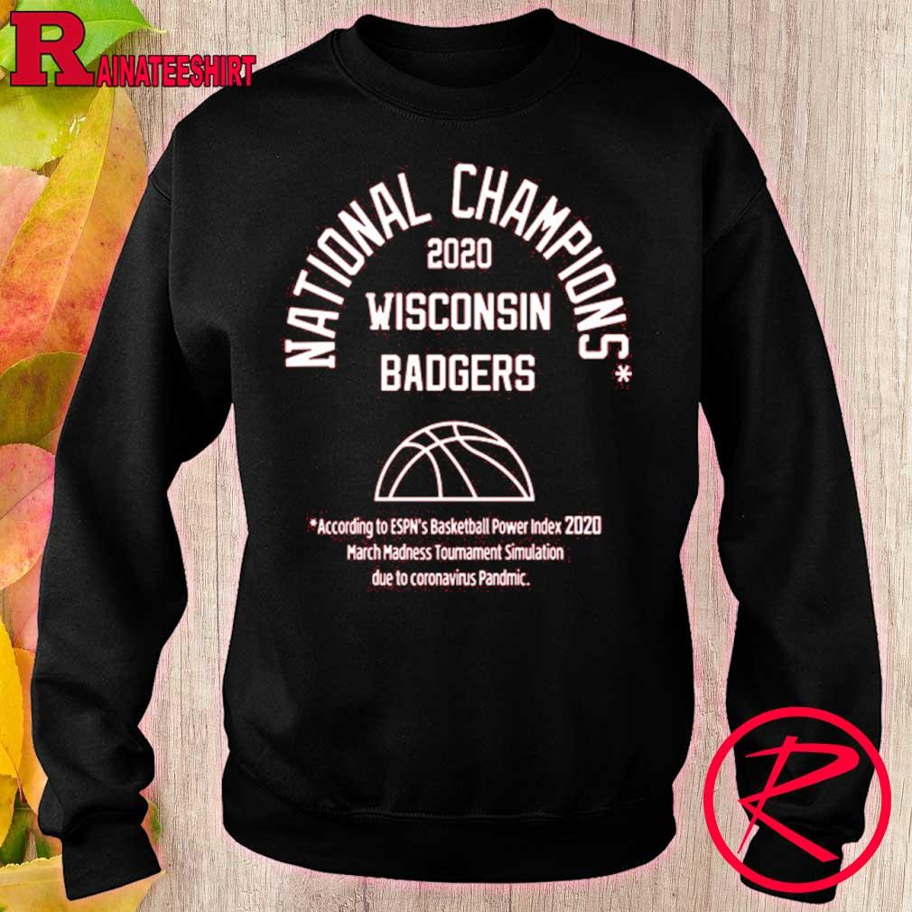 Official 2020 National Champions Wisconsin Badgers Shirt sweater
