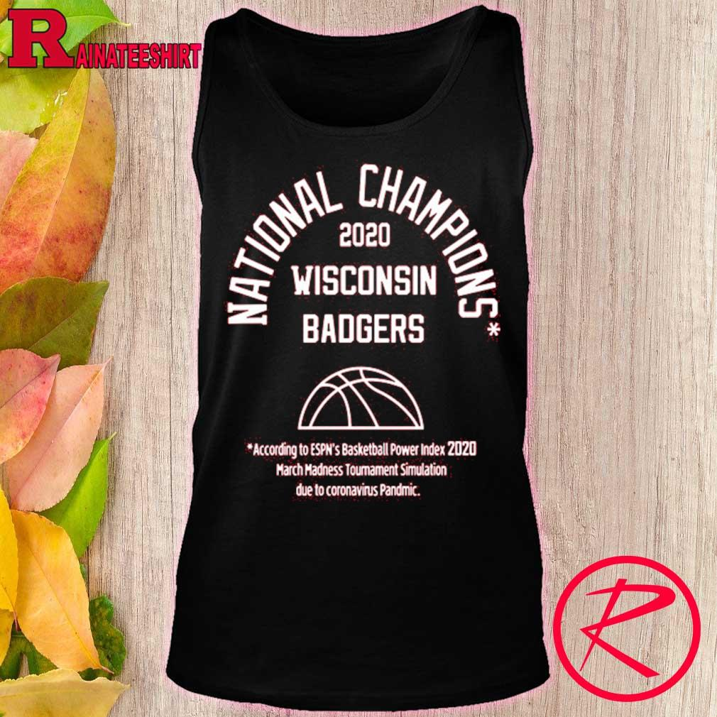 Official 2020 National Champions Wisconsin Badgers Shirt tank top