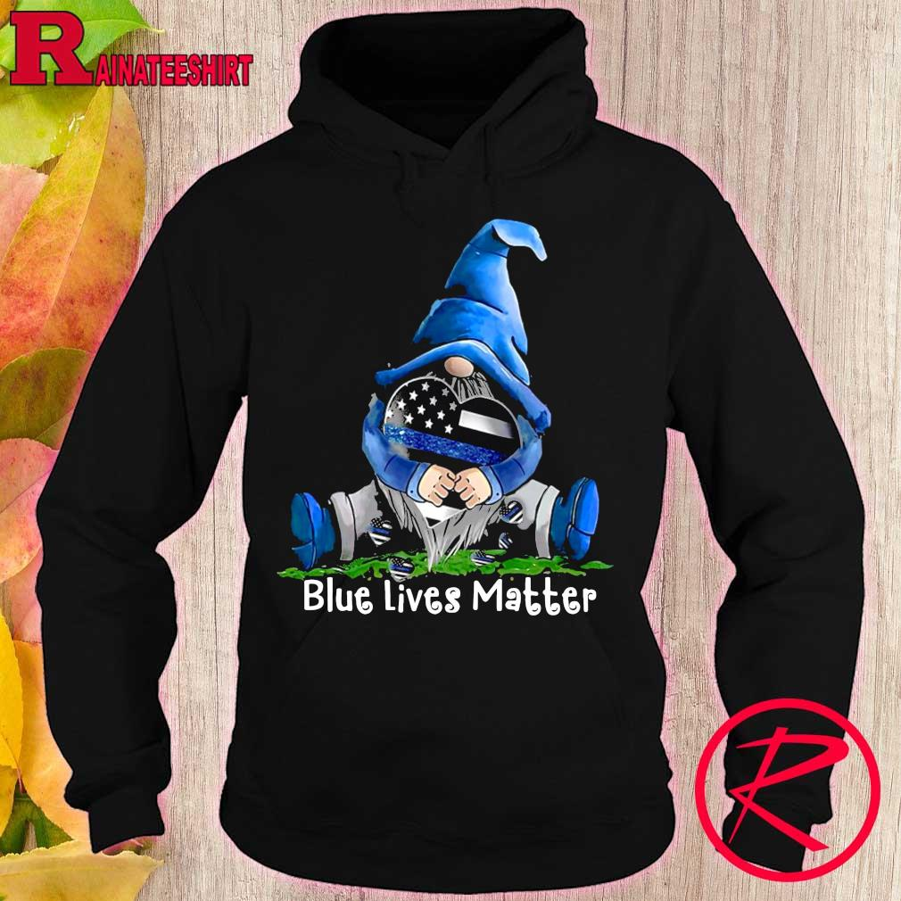 Official gnomes hug blue lives matter s hoodie
