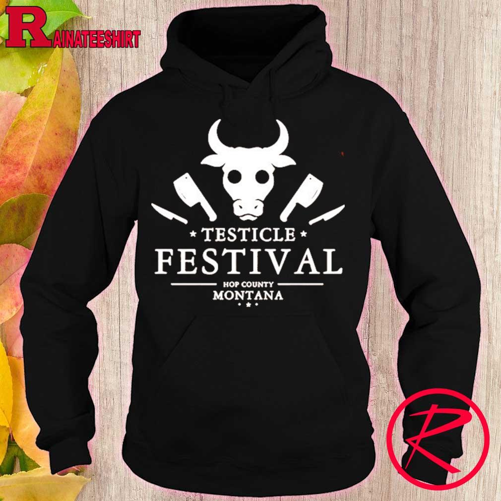 Official Testicle Festival Hop County Montana Shirt hoodie