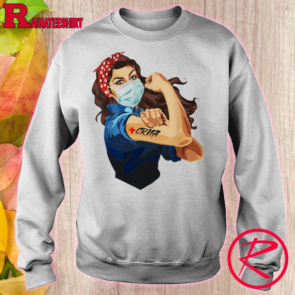 Strong woman CRNA s sweater