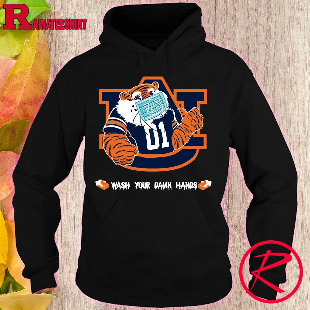 Official Auburn Tigers Wash Your damn hands s hoodie
