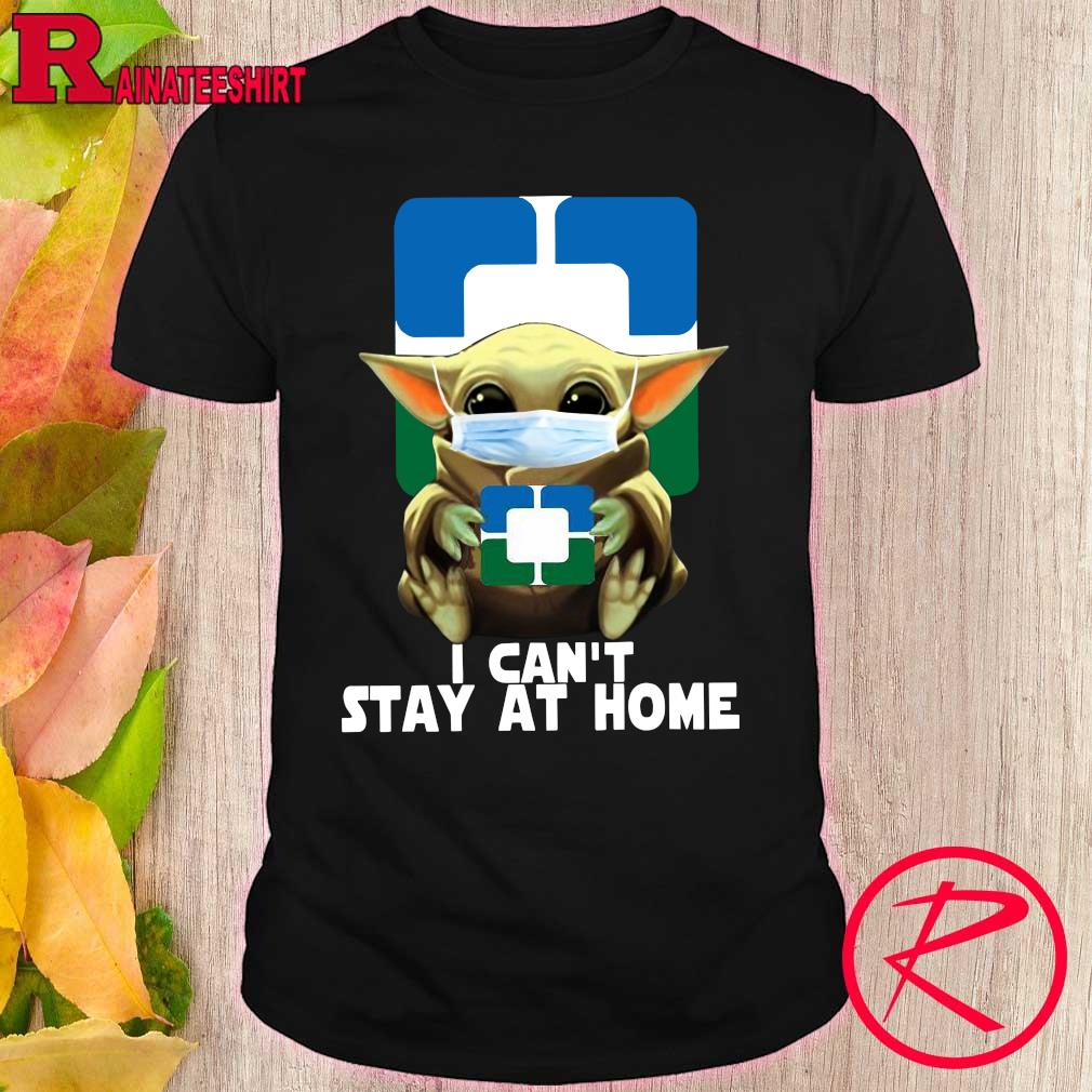 Official Cleveland Clinic Baby Yoda I cant stay at home shirt