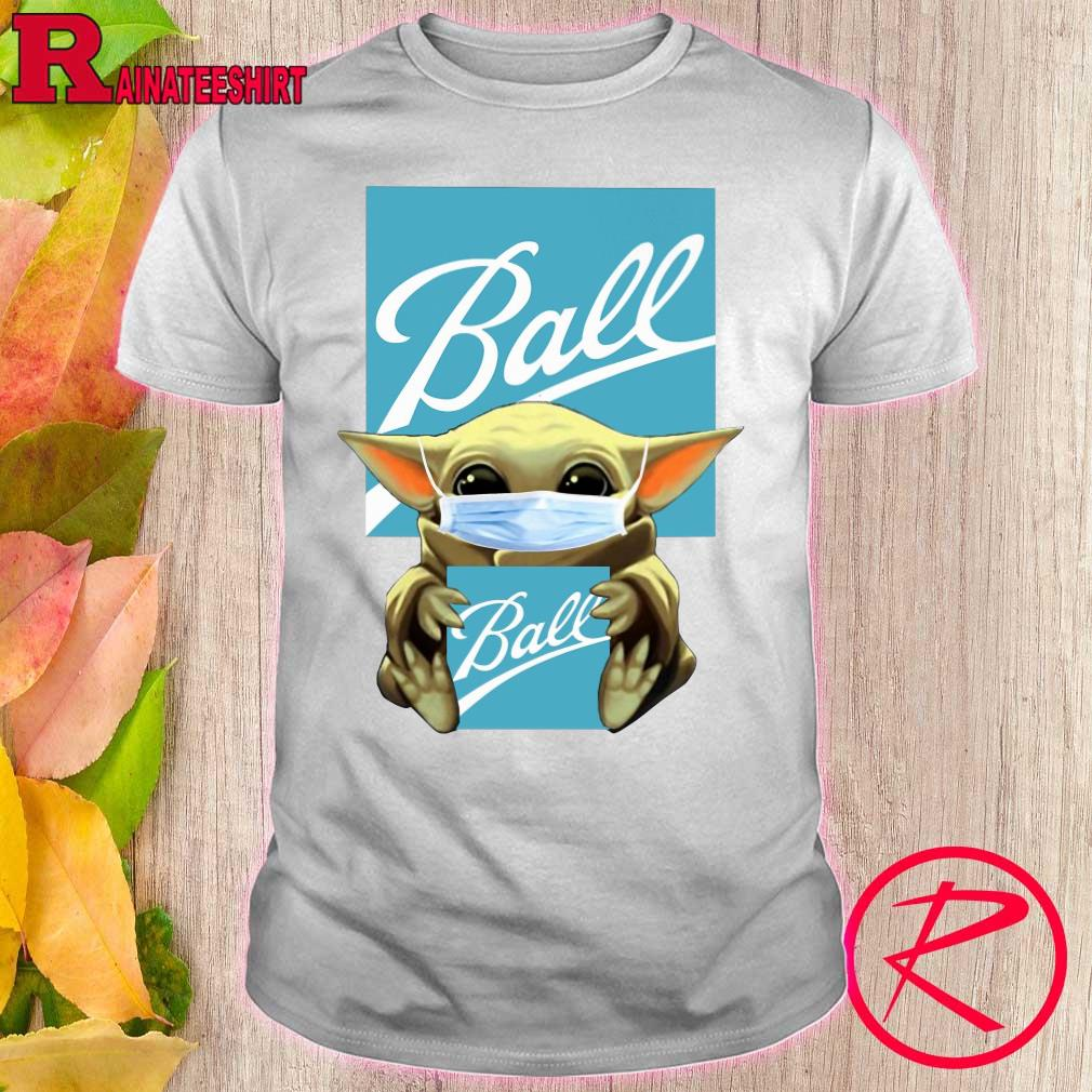 Baby Yoda hug Ball Corporation shirt