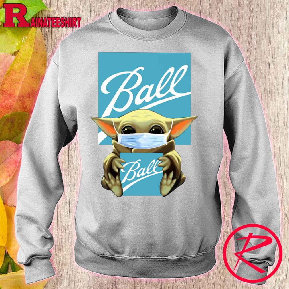 Baby Yoda hug Ball Corporation s sweater